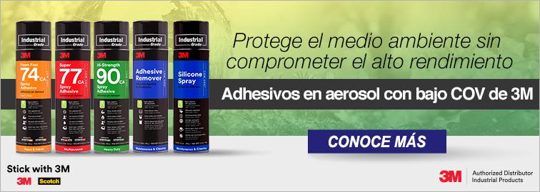 Adhesivos en aerosol de bajo COV de 3M